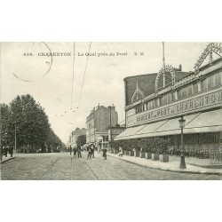 94 CHARENTON LE PONT. Le Quai et Bar Concert du Pont 1914