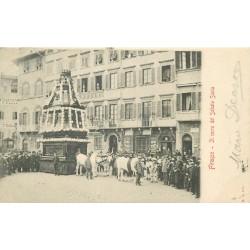 FIRENZE FLORENCE. Il carro del Sabato Santo 1912
