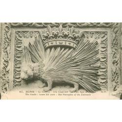 carte postale ancienne 41 BLOIS. Château. Porc-Epic Emblême 1907
