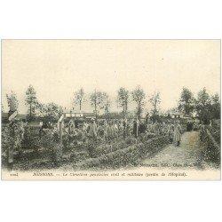 carte postale ancienne 02 SOISSONS. Cimetière provisoire Civil et Militaire. Jardin Hôpital