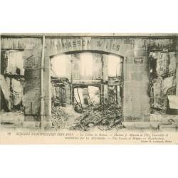 51 REIMS. Maison de Masson incendiée et bombardée 1917
