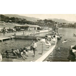 Photo Cpsm 74 THONON-LES-BAINS. La Plage 1954