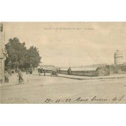 41 BLOIS. Cycliste sur la Promenade du Mail et la Loire 1902