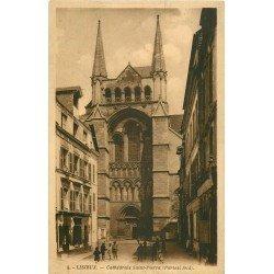 carte postale ancienne 14 LISIEUX. Cathédrale Saint-Pierre Portail sud
