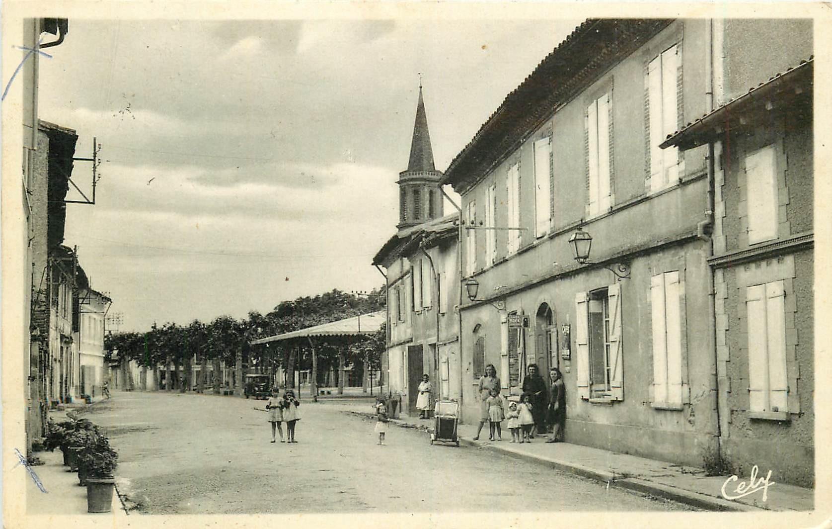 Photo Cpsm 31 LE LHERM. Café Route de Lavernose 1961