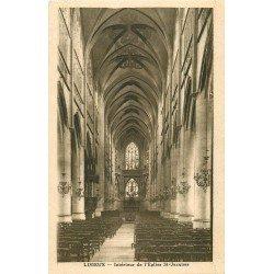 carte postale ancienne 14 LISIEUX. Intérieur Eglise Saint-Jacques