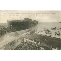 """44 SAINT-NAZAIRE. Paquebot """" Ile de France """" inauguration et les Pêcheurs de suif 1926"""