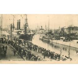 44 SAINT-NAZAIRE. Le Départ d'un Transatlantique 1927