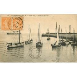 44 SAINT-NAZAIRE. Bateaux de Pêche dans l'Avant-Port 1924