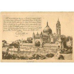carte postale ancienne 14 LISIEUX. La Basilique son projet