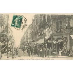 41 BLOIS. Fête des Fleurs rue Denis Papin en 1910 avec le Grand Café