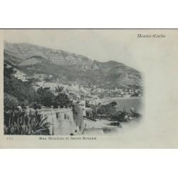 MONACO MONTE-CARLO. Bas Moulins et Saint-Roman vers 1900