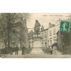 41 BLOIS. Statue de Denis Papin belle animation 1910