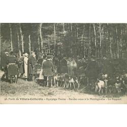 02 VILLERS-COTTERETS. Equipage Menier le Rapport au rendez-vous à la Montagnelle 1926