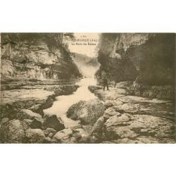 01 BELLEGARDE. La Perte du Rhône avec Pêcheur 1925