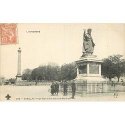 2 x Cpa 15 AURILLAC. Pape Gerbert près Colonne Monthyon 1903 et Jardin du Square 1934