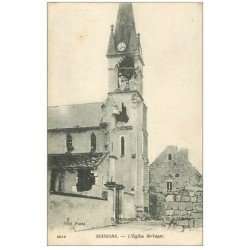carte postale ancienne 02 SOISSONS. Eglise Saint-Waast 1917