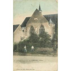 89 VARENNES. L'Eglise avec Artisans Paysans 1911