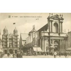 2 x Cpa 21 DIJON. Eglise Saint-Michel, Bourse du Commerce et Statue François Rude 1920