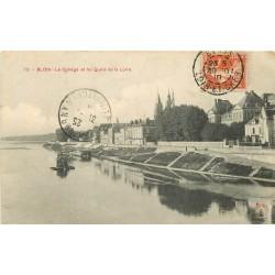 41 BLOIS. La Dragueuse et le Collège Quais de la Loire 1910