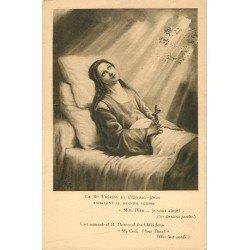 carte postale ancienne 14 LISIEUX. Dernier soupir de Thérèse de l'Enfant Jésus 1925