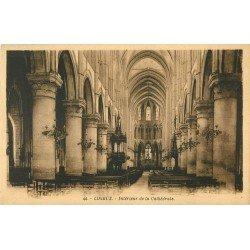 carte postale ancienne 14 LISIEUX. Intérieur de la Cathédrale