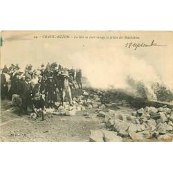 17 CHÂTELAILLON PLAGE. La Mer en furie ravage la Falaise des Boucholeurs 1914