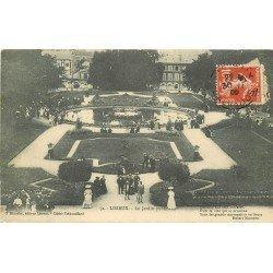 carte postale ancienne 14 LISIEUX. Jardin Public 1909