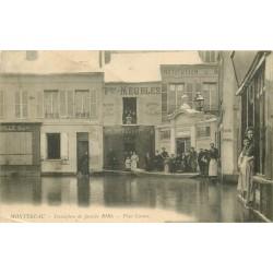 77 MONTEREAU. Place Carnot inondation de 1910