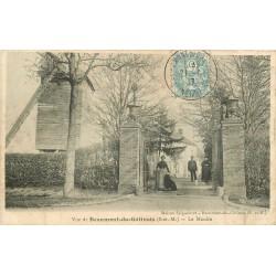 77 BEAUMONT-EN-GÂTINAIS. Le Vieux Moulin 1907