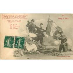 BERGERET. Le 4° Régiment d'Infanterie avec Militaires et Bonne-Soeur Infirmière 1908