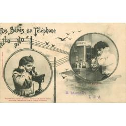 Illustrateur BERGERET. Nos Bébés au téléphone 1903