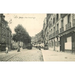 41 BLOIS. Rue Denis Papin avec tramway vers 1908