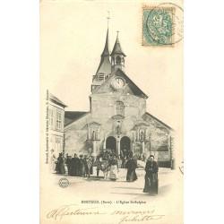 27 BRETEUIL. Sortie Eglise Saint-Sulpice 1906