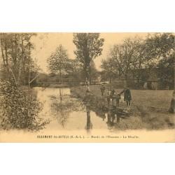 28 BEAUMONT-LES-AUTELS. Le Moulin sur les Bords de l'Ozanne 1916