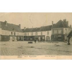 77 EGREVILLE. Ecoliers Place du Marché 1904