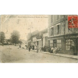 89 AUXERRE. Café Bousseau Place Saint-Amatre Route de Toucy 1908