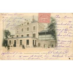 94 VILLENEUVE-SAINT-GEORGES. La Gare carte colorisée vers 1900
