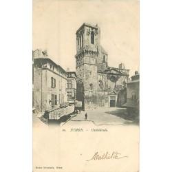 2 x Cpa 30 NÎMES. Cathédrale vers 1900 et Camp de Massillan 1914