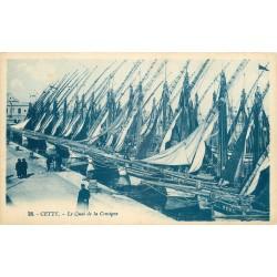 34 CETTE ou SETE. Bateaux de Pêche au Quai de la Consigne
