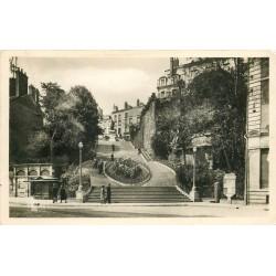41 BLOIS. Rue Denis-Papin Escaliers photo Cpsm 1948 avec kiosque à journaux