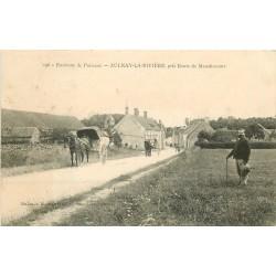 45 AULNAY-LA-RIVIERE. Attelage sur la Route de Manchecourt 1907