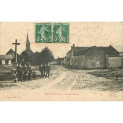 45 DOSSAINVILLE. Animation sur la Place et L'Eglise 1908