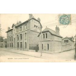 2 x Cpa 35 RENNES. Ecole pratique d'Industrie 1905 et Hôtel de Ville 1950