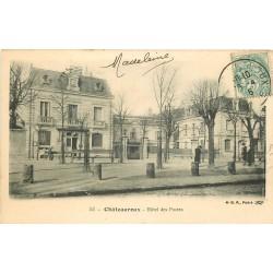 2 x Cpa 36 CHATEAUROUX. Hôtel des Postes 1906 et Mairie 1915