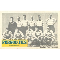 carte postale ancienne 75 PARIS 08. Equipe de Football le Racing Club de Paris. Publicitaire PERNOD 31 rue de Bassano
