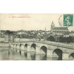 2 x Cpa 41 BLOIS. Pont et Quai Villebois Mareuil 1909 & 1918