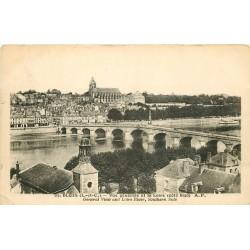 2 x Cpa 41 BLOIS. Pont sur la Loire et vue depuis Faubourg de Vienne