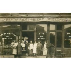 """PARIS XIX. Café Restaurant """" Au Prévôt """" Boulevard de Belleville 1926 Bière Dumesnil"""