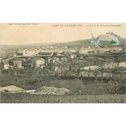 2 x Cpa 23 CAMP DE LA COURTINE. Lac de Gratadoux et Casernes d'Infanterie